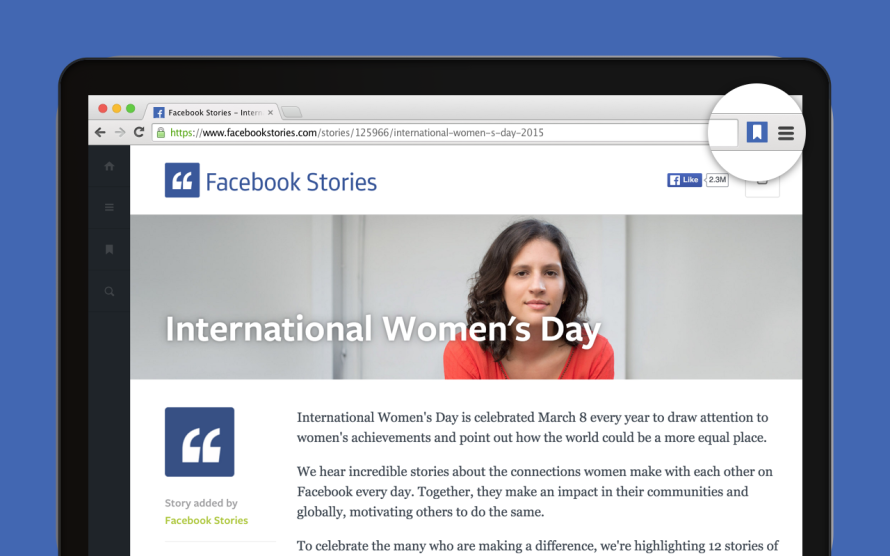 Save to Facebook - Chrome Extension - Image #1