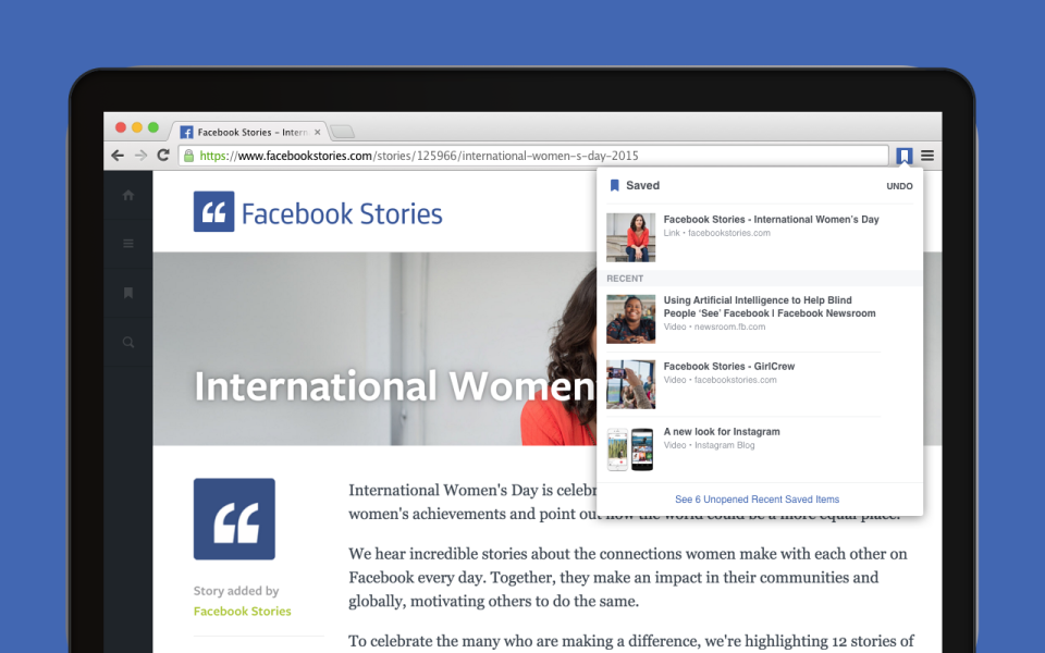 Save to Facebook - Chrome Extension - Image #2