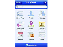 Lançamento do Facebook para celular.