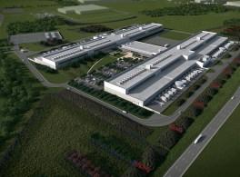 Início da construção da central de processamento de dados em Fort Worth, Texas.