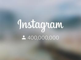 Mais de 400 milhões de pessoas usam o Instagram mensalmente.