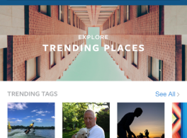 Lançamento do novo recurso Pesquisar e explorar do Instagram.