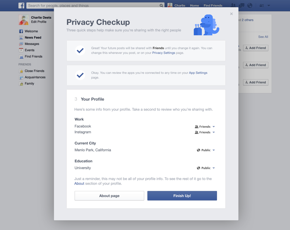 Privacy Checkup Step 3