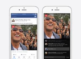 Einführung von Live-Videos für Personen des öffentlichen Lebens auf Facebook Mentions