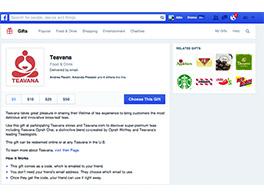Se lanza la aplicación Regalos de Facebook.