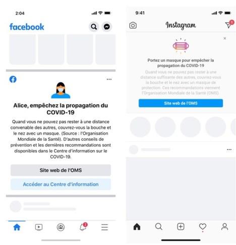 """Une nouvelle section """"les faits du COVID"""" sur Facebook"""