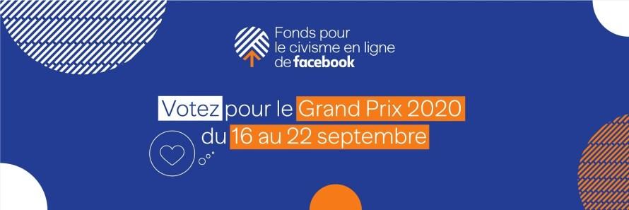 Appel au vote pour le grand projet lauréat du fond pour le civisme en ligne de Facebook