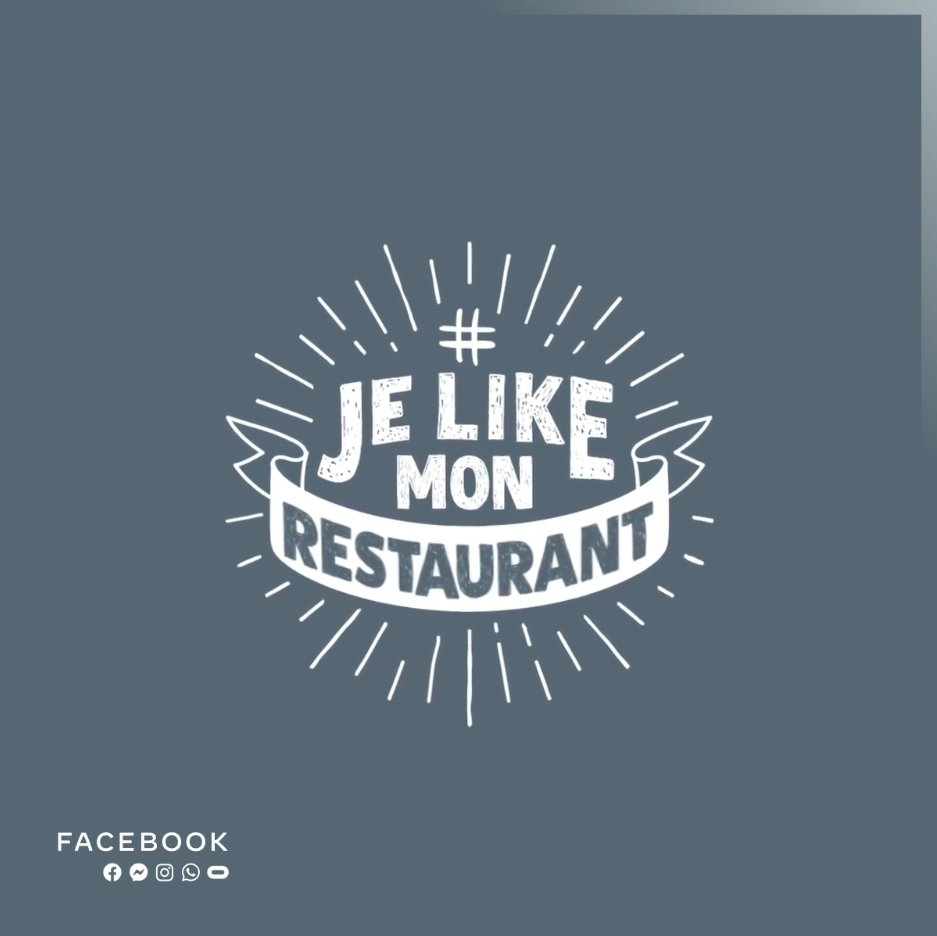 Logo de l'opération Je Like Mon Restaurant par Facebook