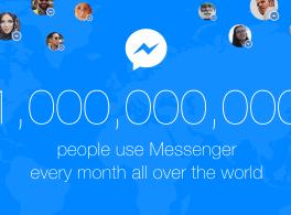 Plus de 1milliard de personnes utilisent Messenger chaque mois.