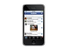 Lancement de l'application Facebook sur iPhone.
