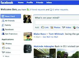 Lancement de la nouvelle page d'accueil de Facebook.