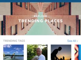 Lancement de la nouvelle fonction de recherche et d'exploration d'Instagram.