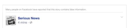 虚偽報告の多い投稿に添えられる注意書き(上部)