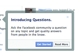 Facebookクエスチョンをリリース