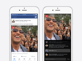 Facebook Mentionsで著名人向けにライブ動画が運用開始。