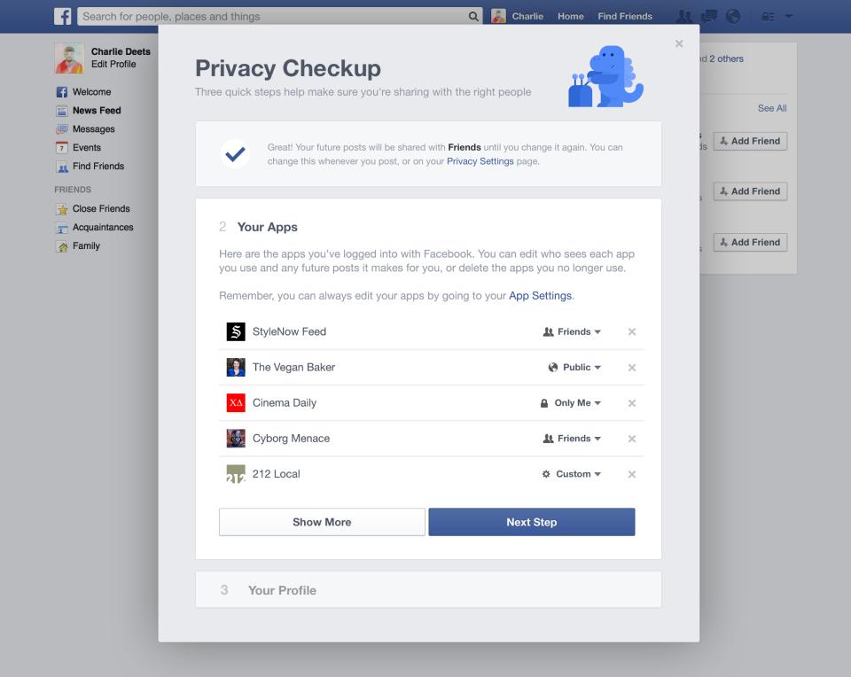 Privacy Checkup Step 2