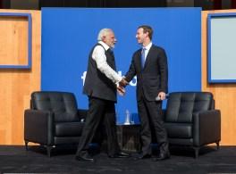 마크 주커버그와 인도 총리 나렌드라 모디의 Q&A 진행