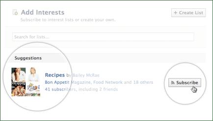 Interest Lists Product Screenshot