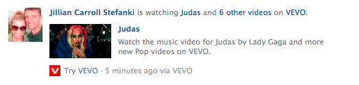 Vevo Newsfeed Post