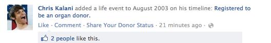 Organ Donation: Newsfeed