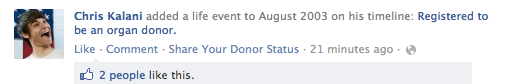 Organ Donation: Newsfeed