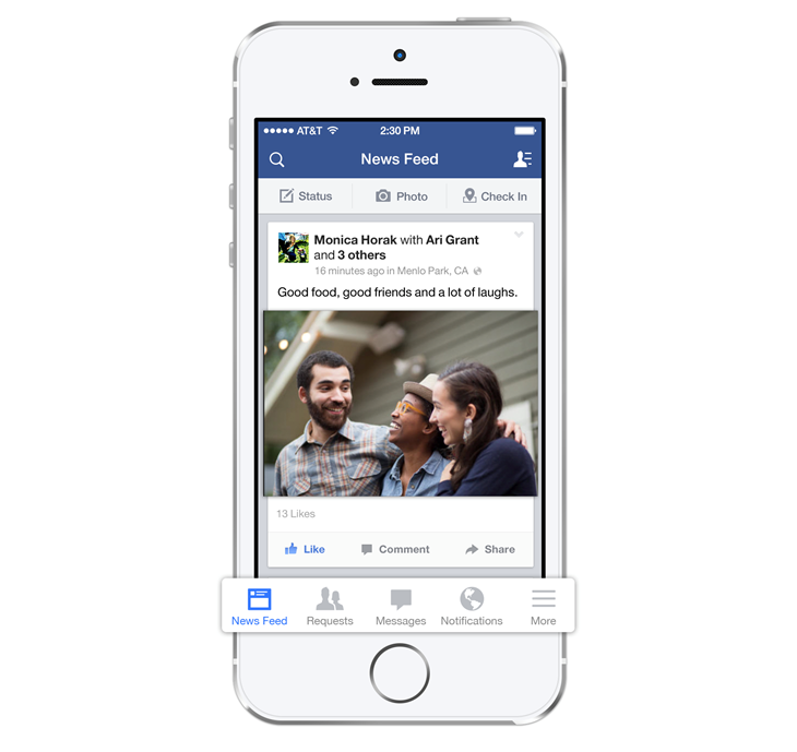 Updates to Facebook for iOS