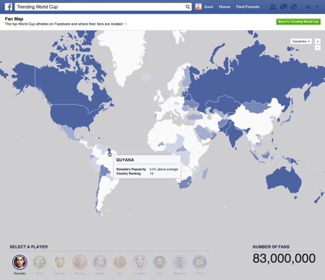 World Cup Fandom Map