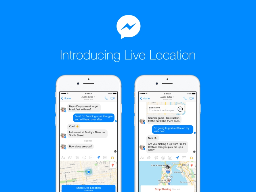 Introducing Live Location in Messenger - About Facebook