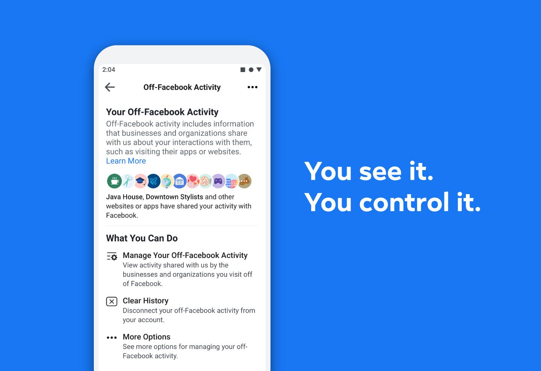 """Mehr Kontrolle über deine Daten: Facebook veröffentlicht neues Tool """"Off-Facebook Activity"""""""