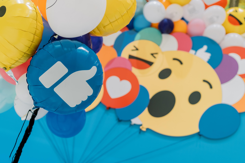 Facebook Reaction Balloons