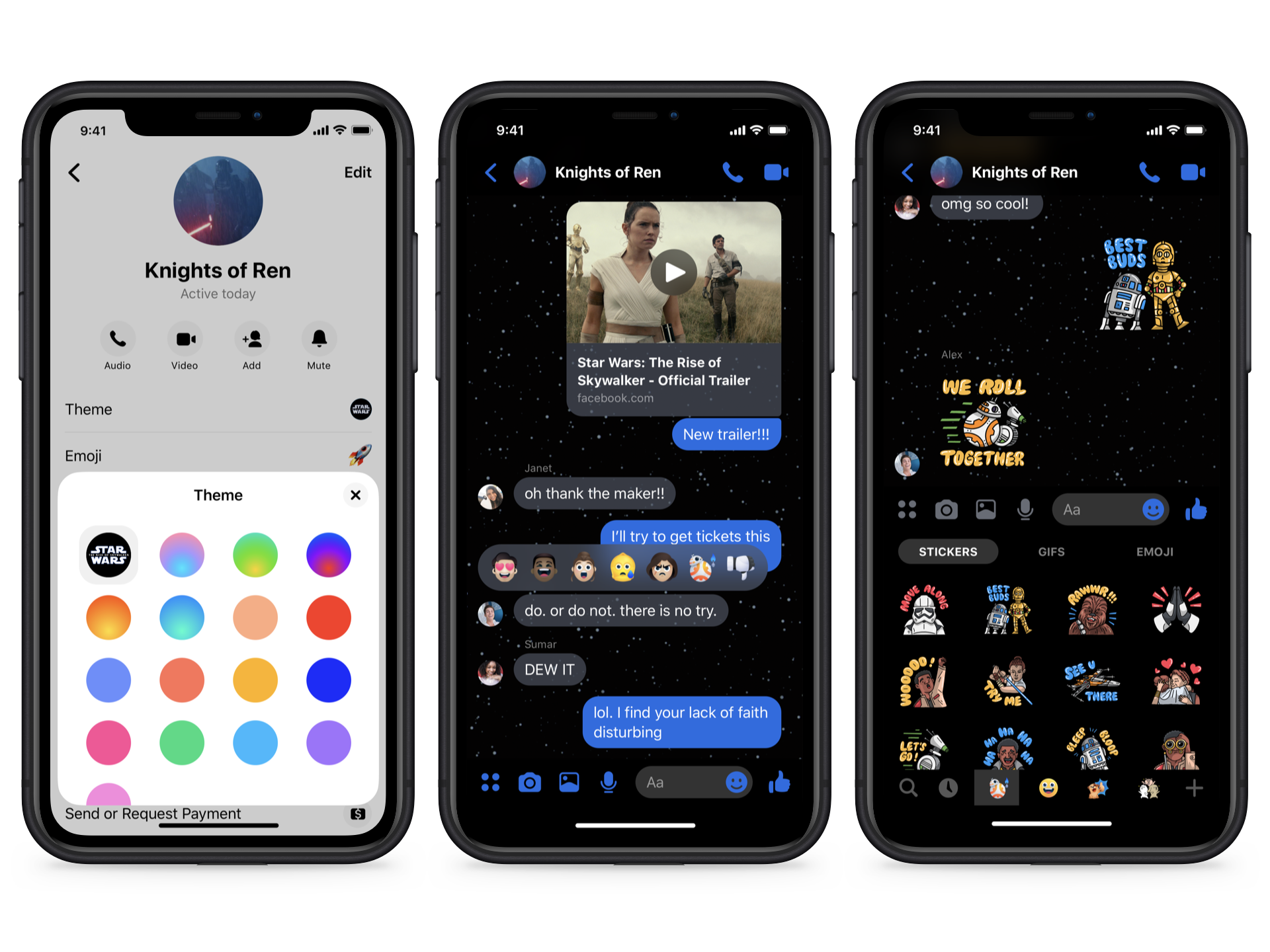 Introducing Star Wars Themed Messenger Features About Facebook