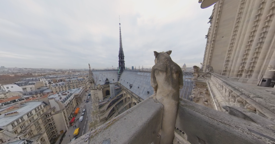 "Still shot from ""Rebuilding Notre Dame"""