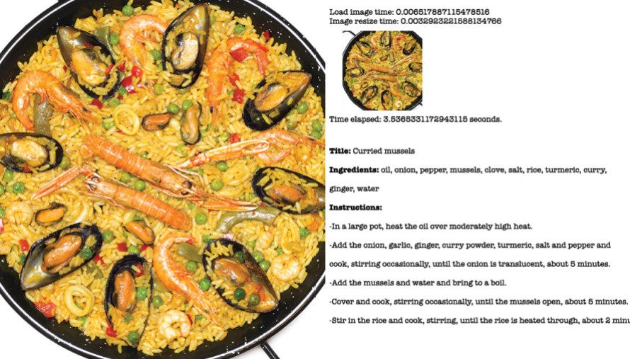 Seafood paella and recipe
