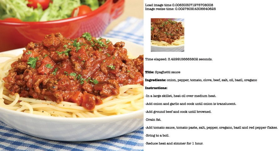Spaghetti with meat sauce and recipe