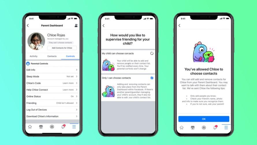 Screenshot of Supervised Friending in Messenger Kids