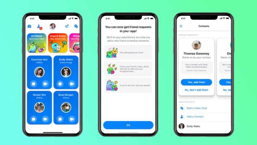 Adding new friends in Messenger Kids