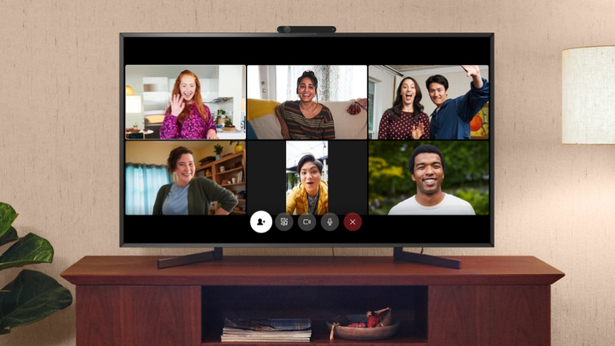 Messenger Rooms shown on Portal TV