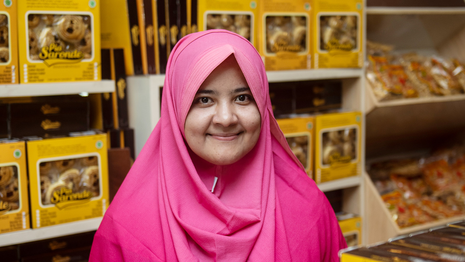 Photo of Sakinah Ali, a small business owner in Indonesia