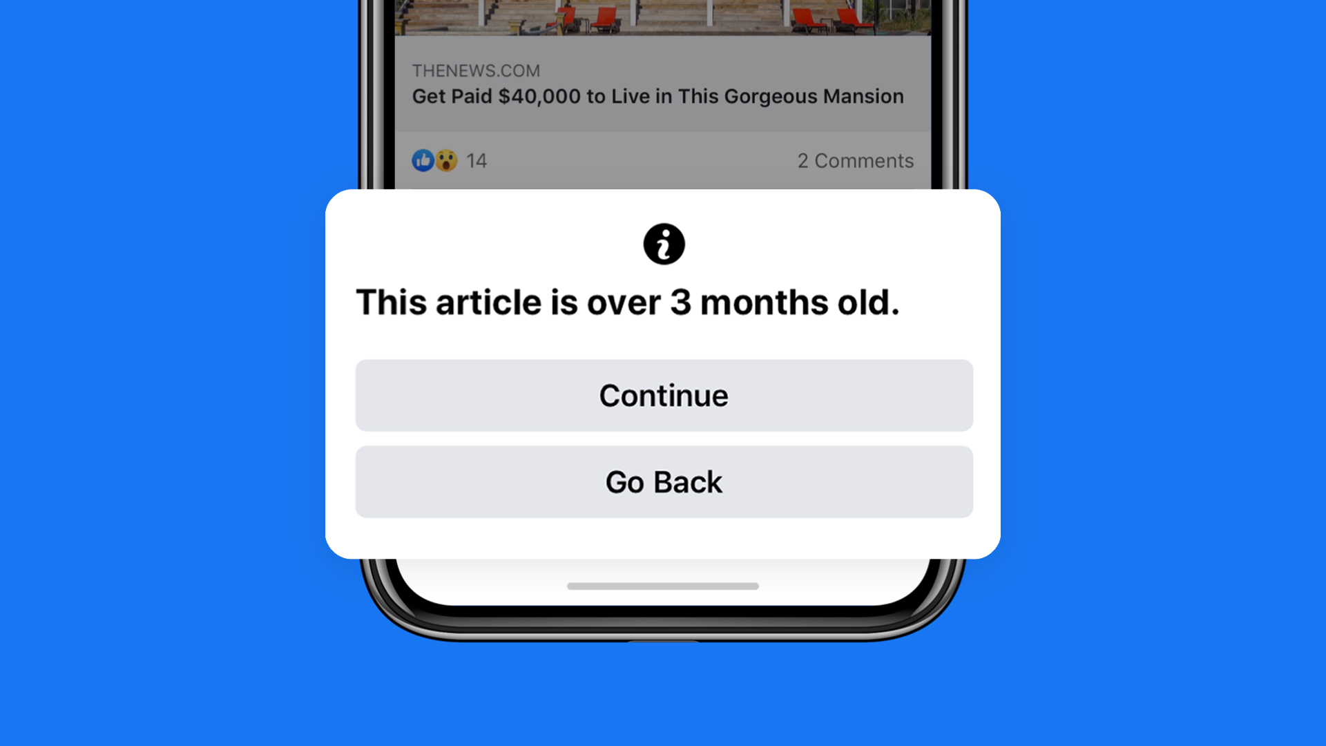 Old article notification