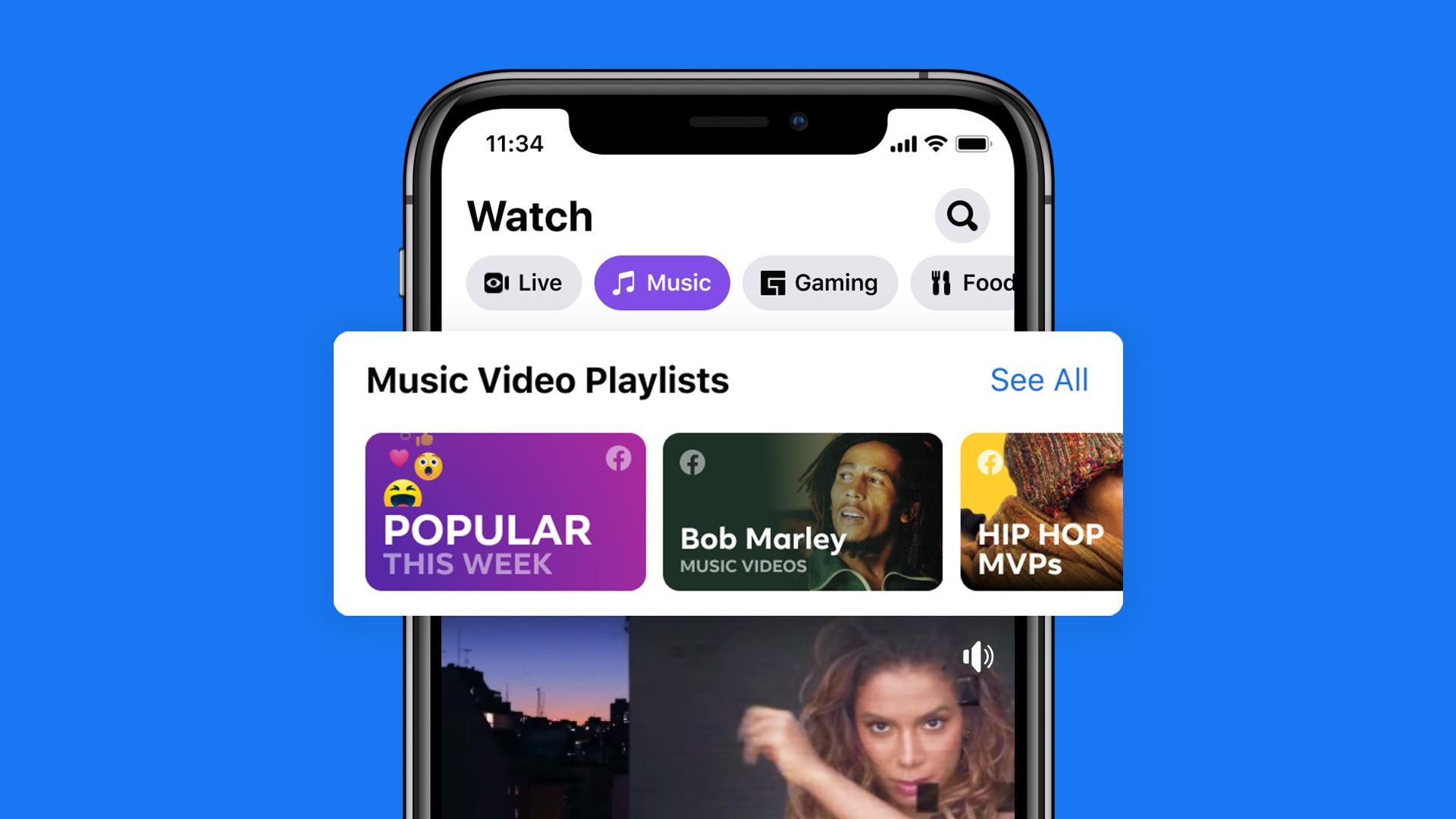 Music videos on Facebook