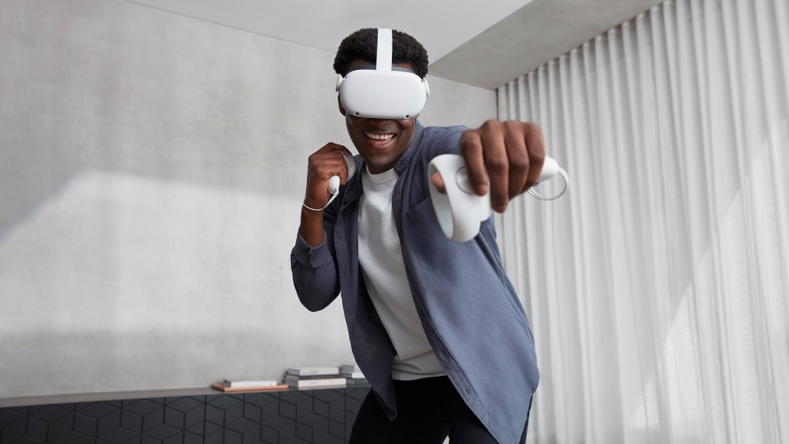 Photo of a man using Oculus Quest 2