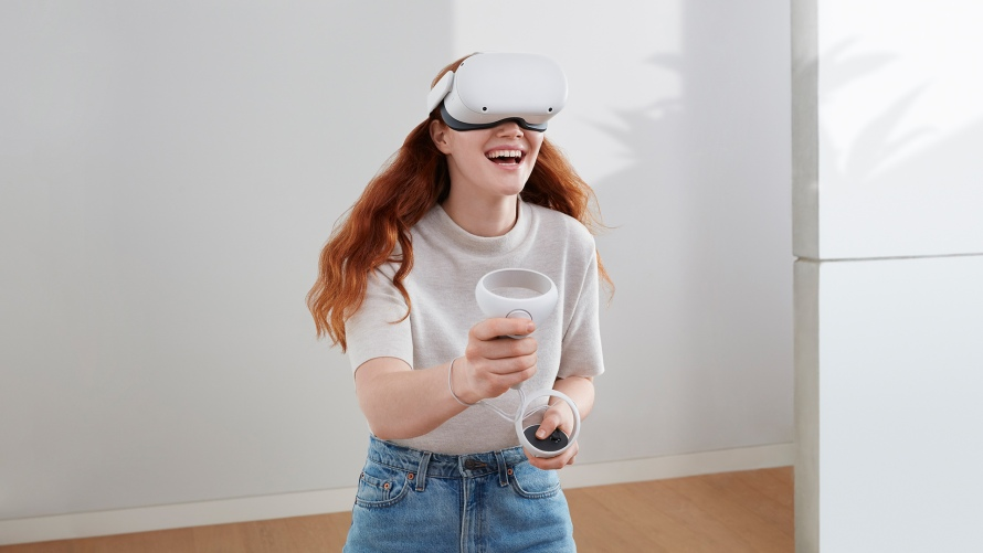 Photo of a woman using Oculus Quest 2