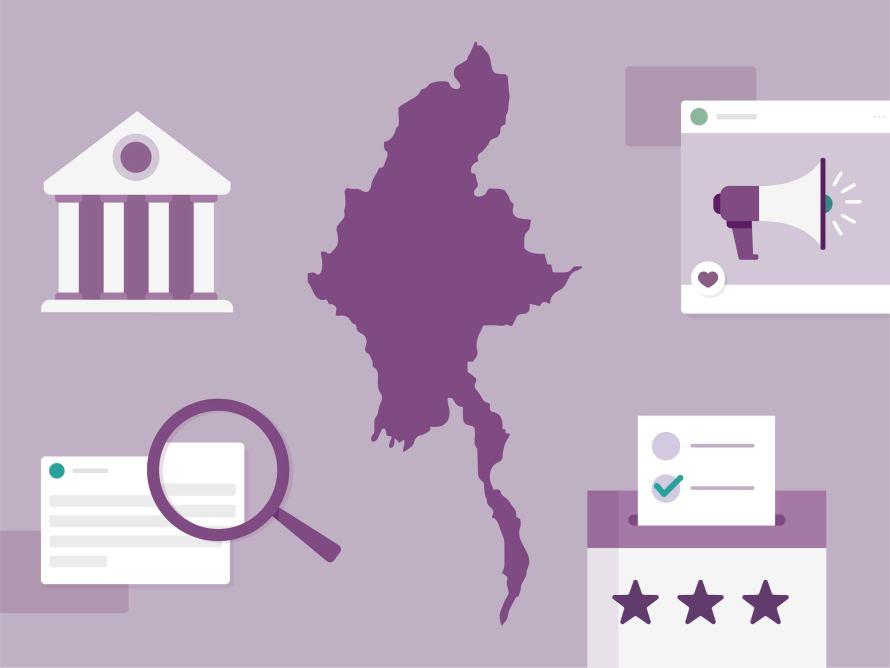 myanmar election illustration