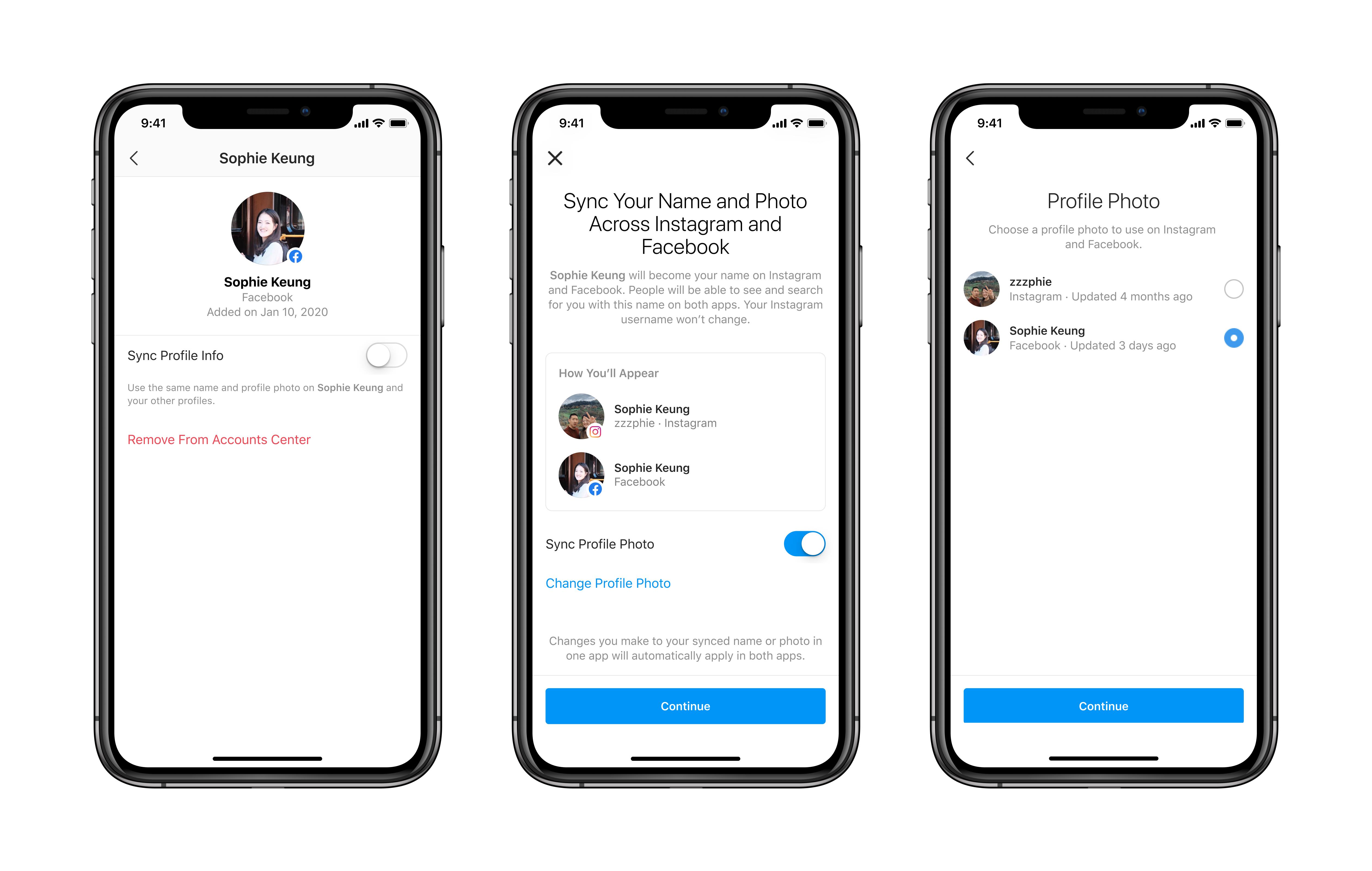 Facebook Account Center erleichtert App übergreifende Funktionen ...