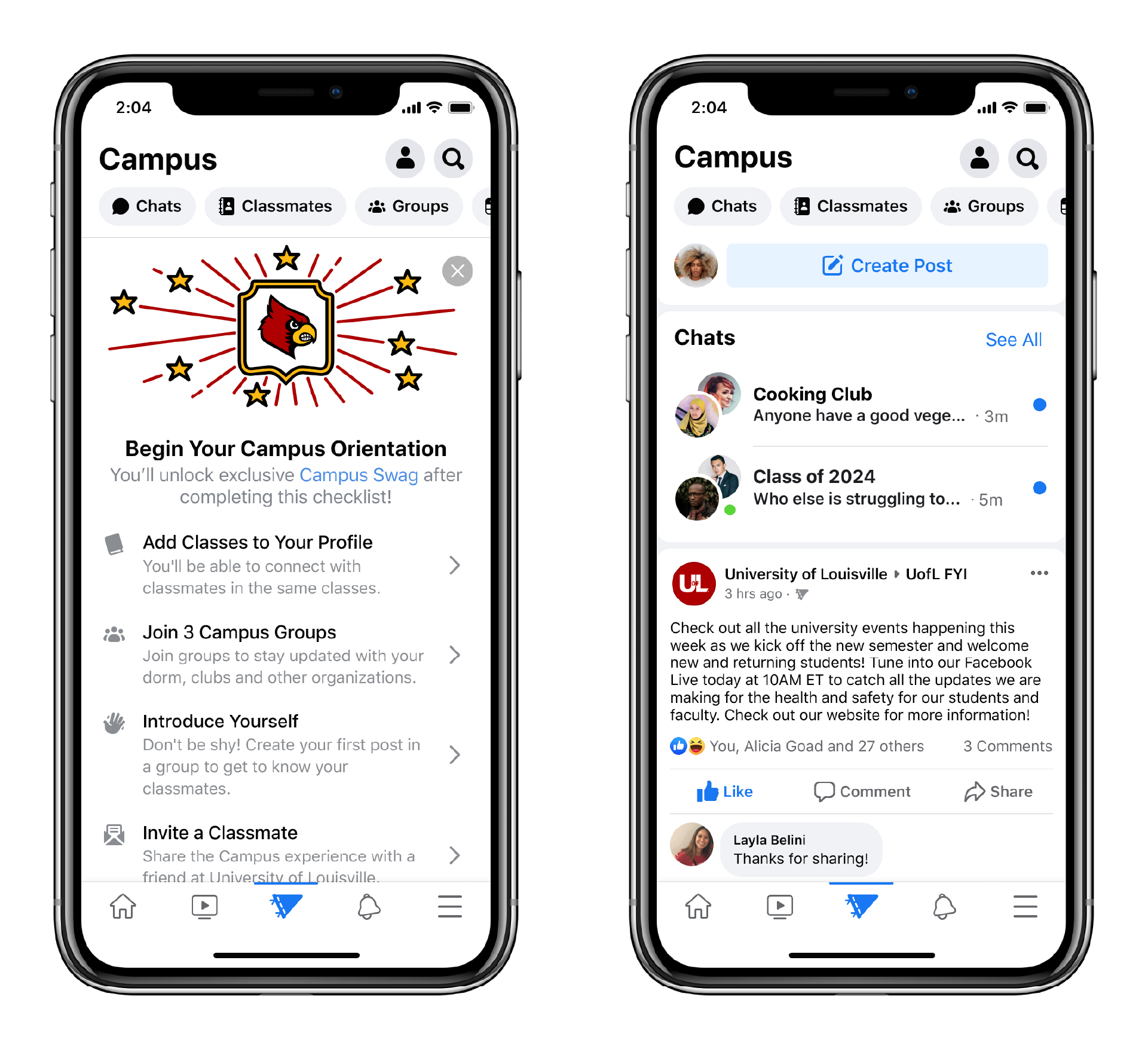 Facebook Campus launches for college students as per Facebook updates by recurpost as social media scheduling tool