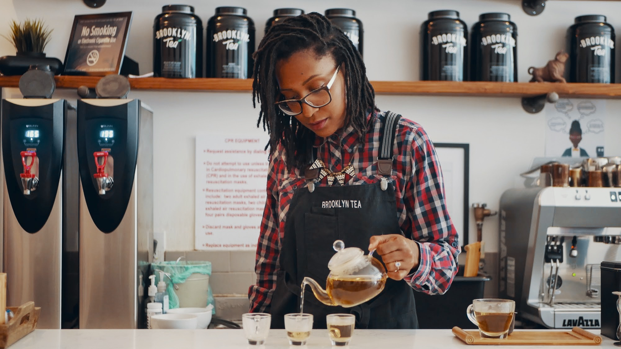 Photo of Jamila McGill, co-founder of Brooklyn Tea Company