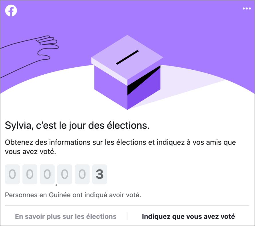 Election countdown screenshot