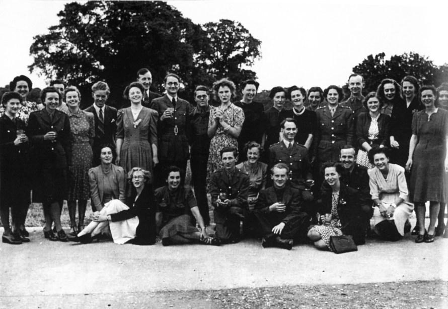 A VE Day celebration at Bletchley Park in 1945