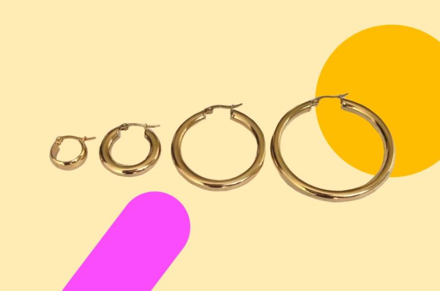 Photo of hoop earrings.