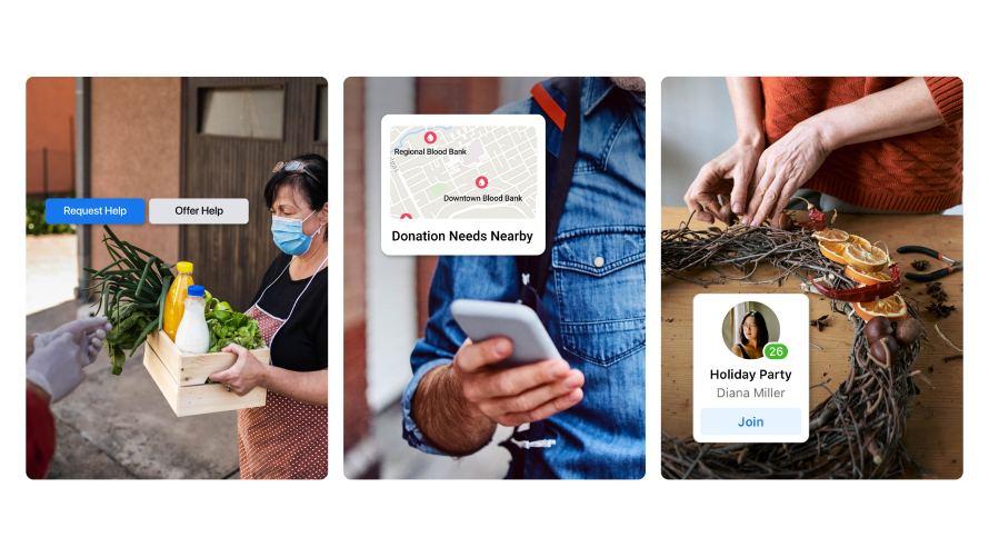 Screenshots of Facebook Season of Giving ideas
